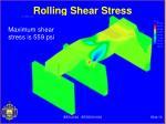 rolling shear stress