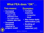 what fea does ok