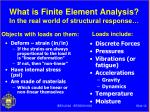 what is finite element analysis in the real world of structural response