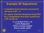 example sf adjustment