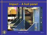 impact a hull panel