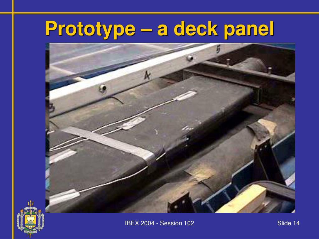 Prototype – a deck panel