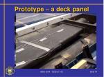 prototype a deck panel