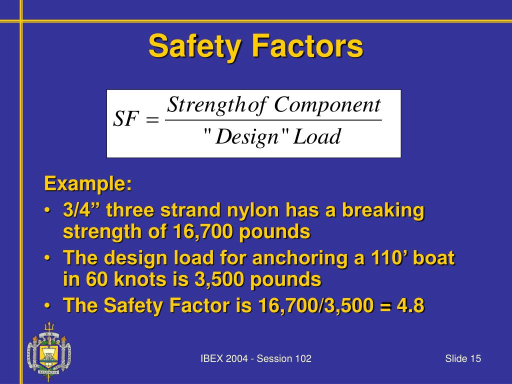 Safety Factors