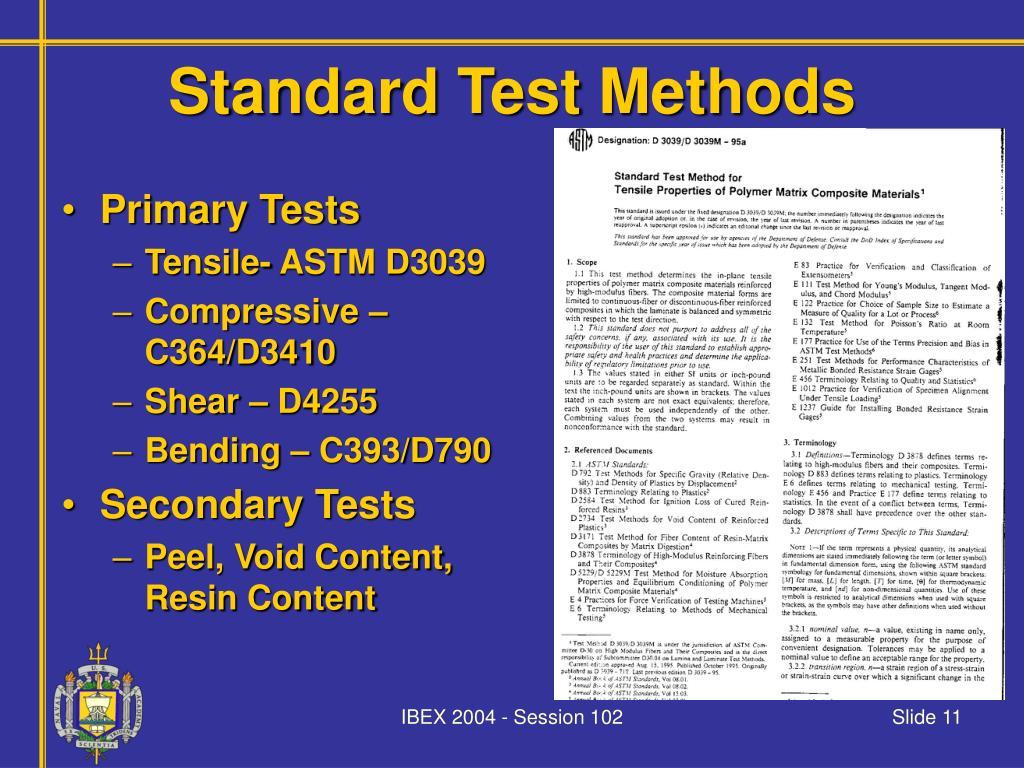 Standard Test Methods