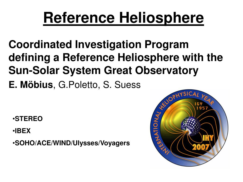 Reference Heliosphere