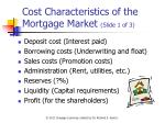 cost characteristics of the mortgage market slide 1 of 3