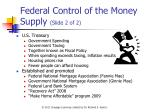 federal control of the money supply slide 2 of 2