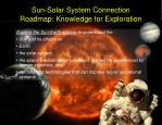 sun solar system connection roadmap knowledge for exploration
