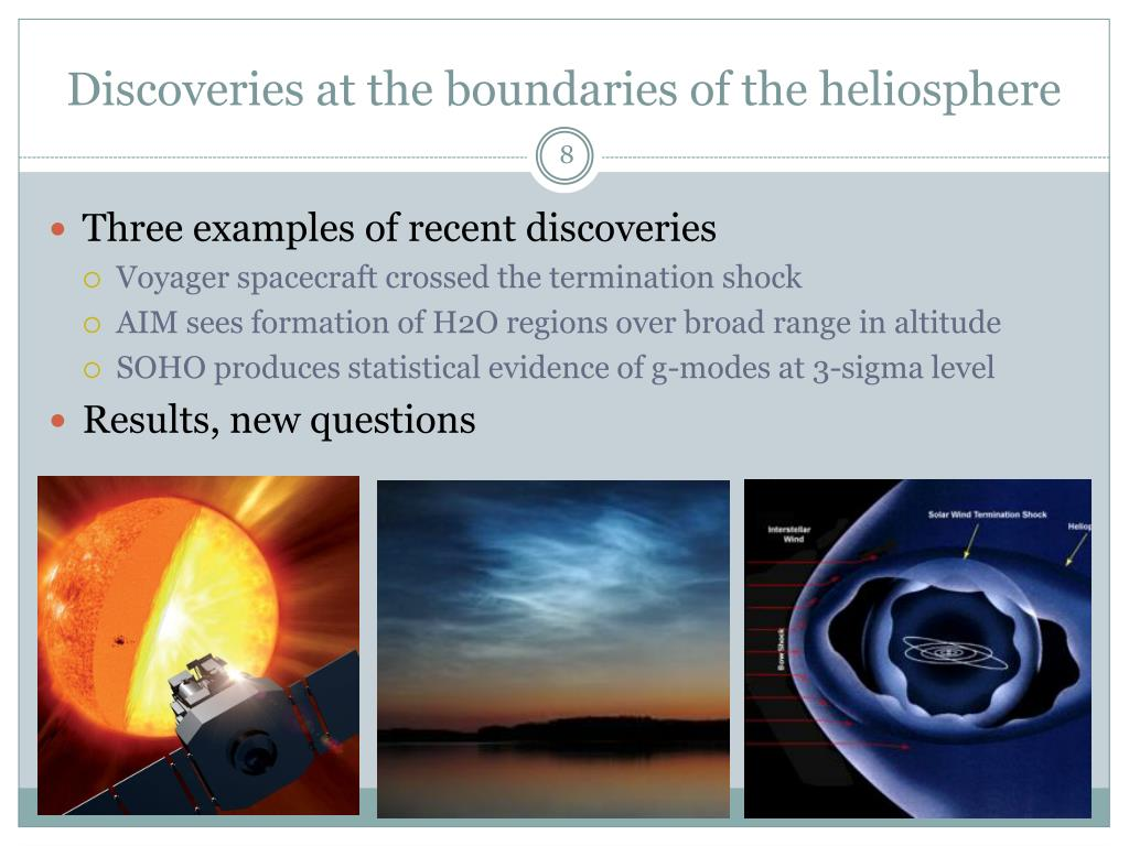 Discoveries at the boundaries of the heliosphere