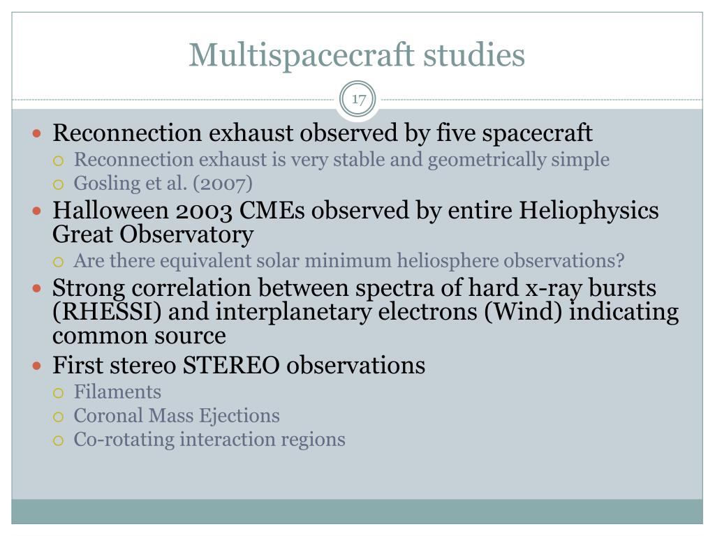 Multispacecraft studies