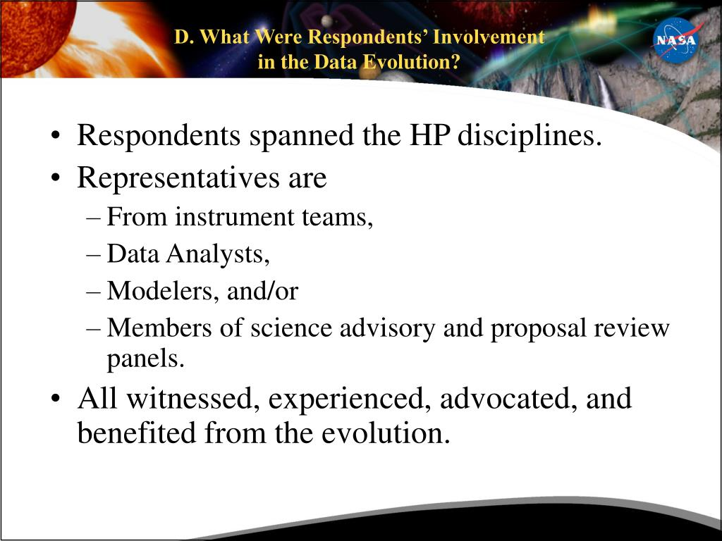 D. What Were Respondents' Involvement