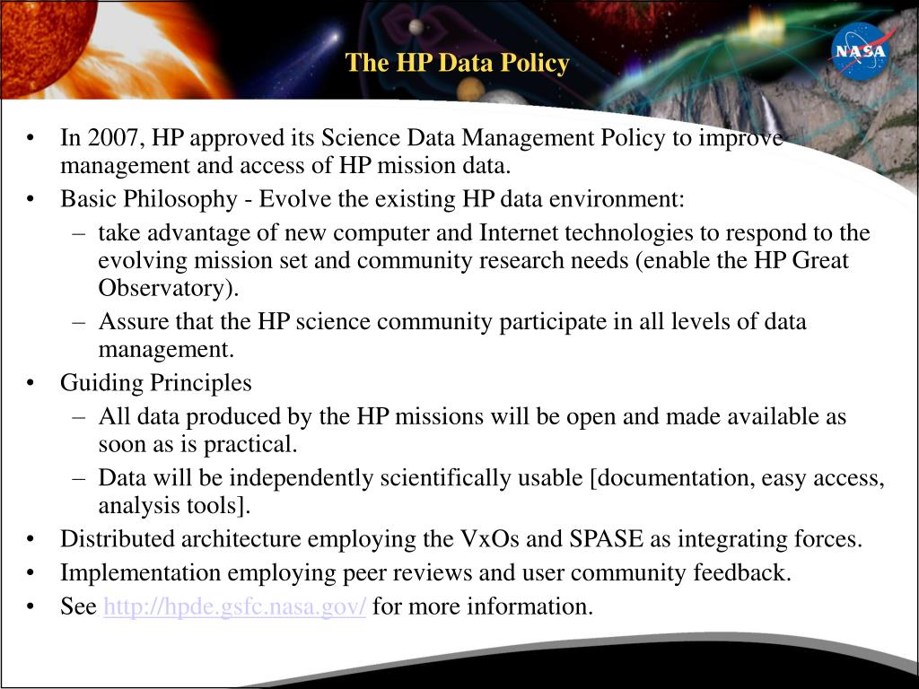 The HP Data Policy