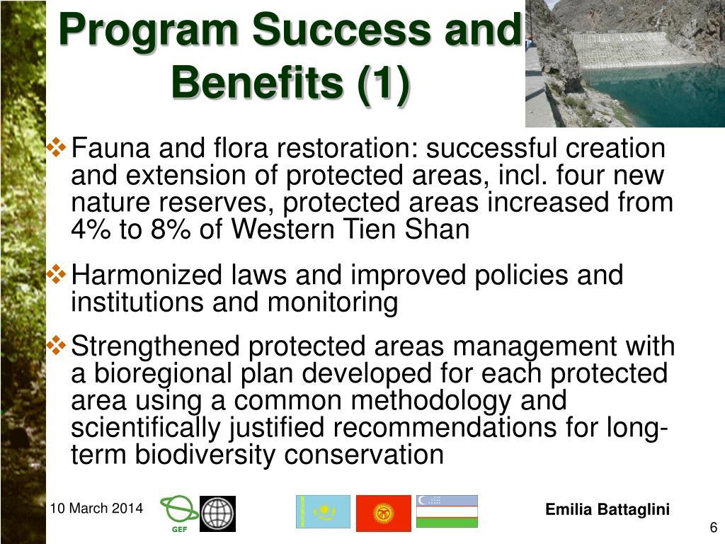 Program Success and Benefits (1)