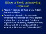 effects of ploidy on inbreeding depression