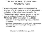 the solar wind power from magnetic flux