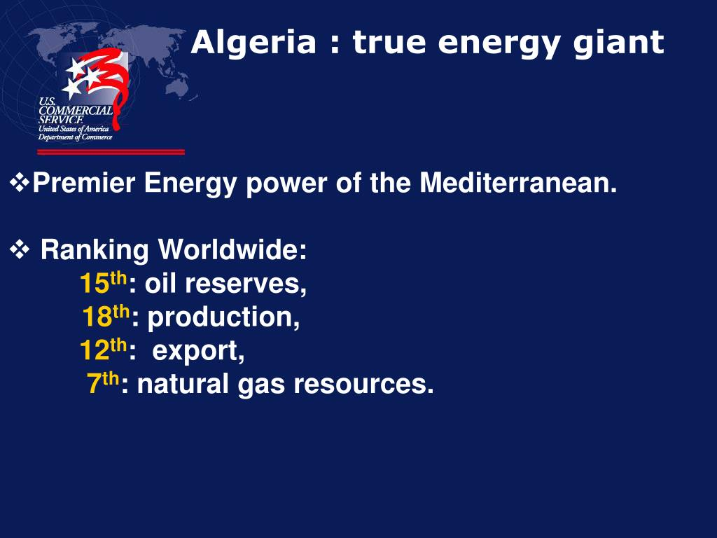 Algeria : true energy giant