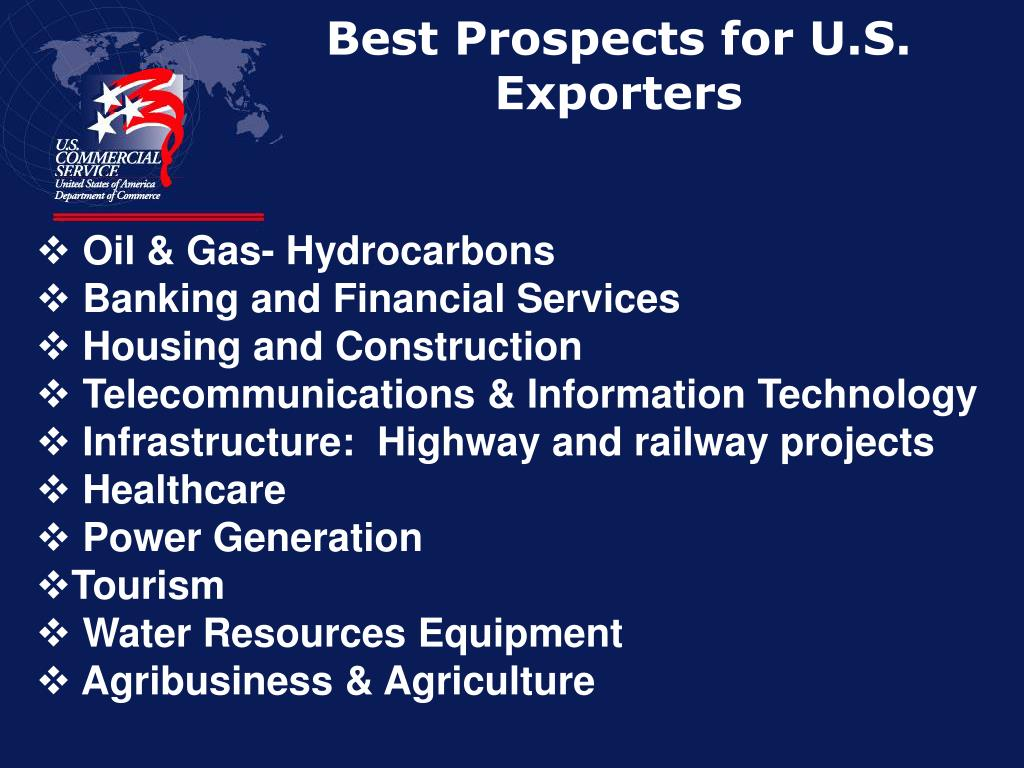 Best Prospects for U.S. Exporters