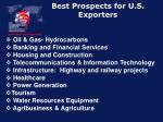 best prospects for u s exporters