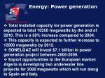 energy power generation