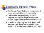 expressive culture music