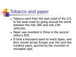 tobacco and paper