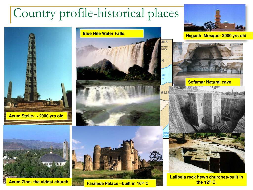 Country profile-historical places