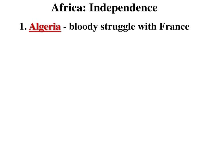 Africa: Independence