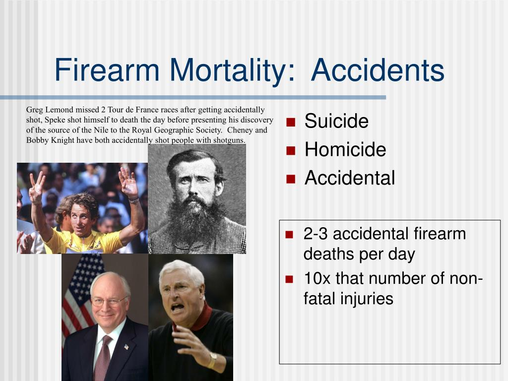 Firearm Mortality:  Accidents