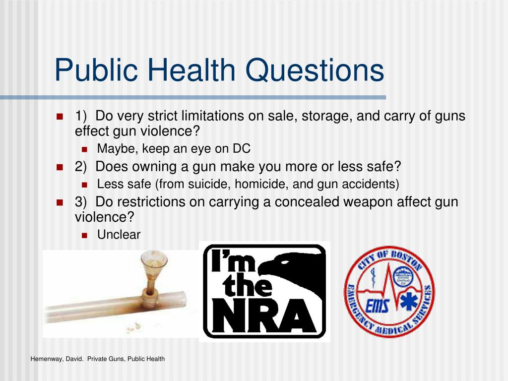 Public Health Questions