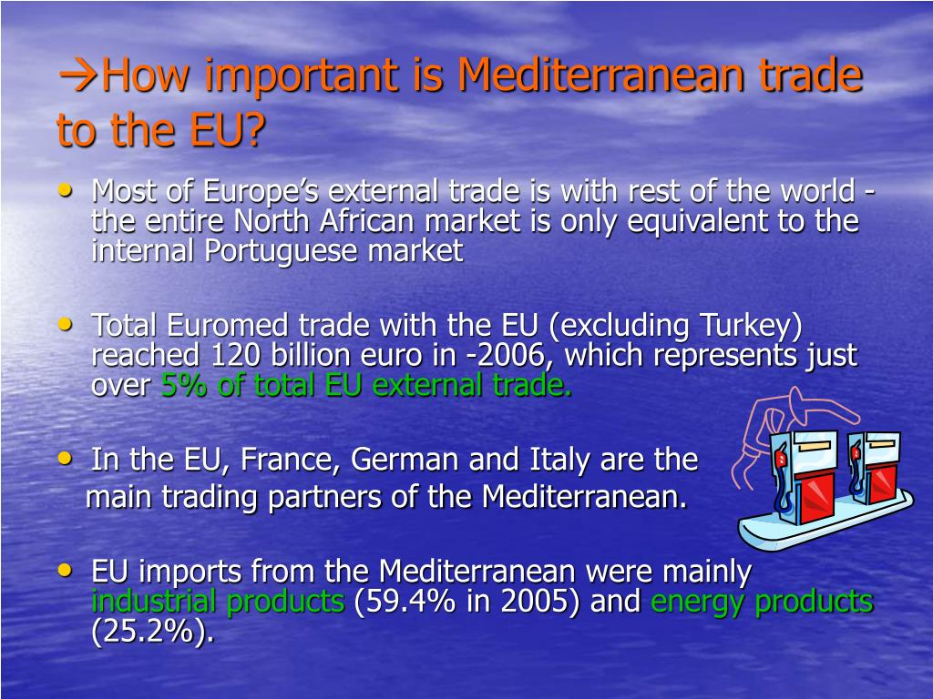 How important is Mediterranean trade to the EU?