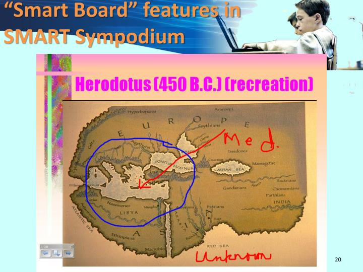 """Smart Board"" features in"