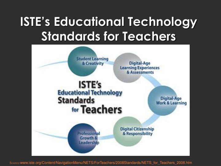 ISTE's Educational Technology Standards for Teachers
