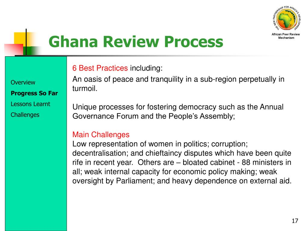 Ghana Review Process