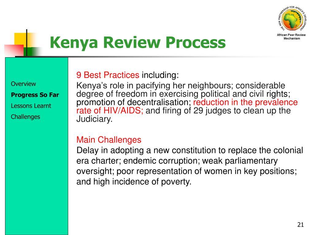 Kenya Review Process