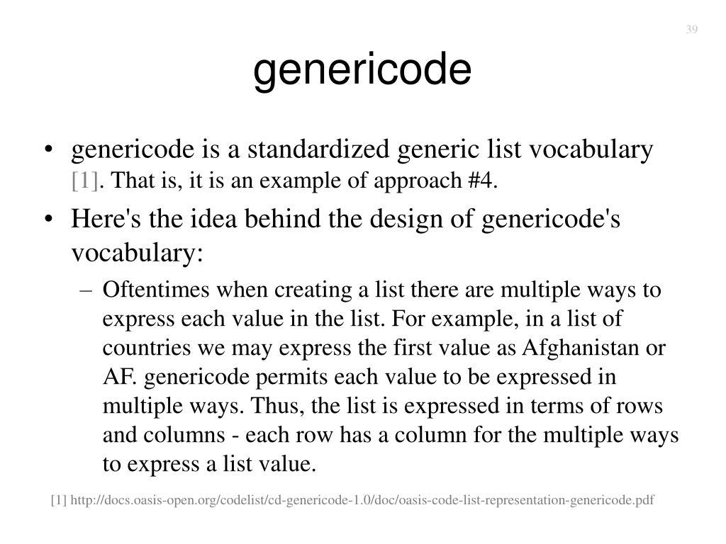 genericode