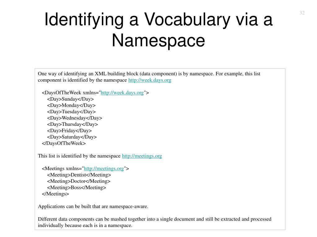Identifying a Vocabulary via a