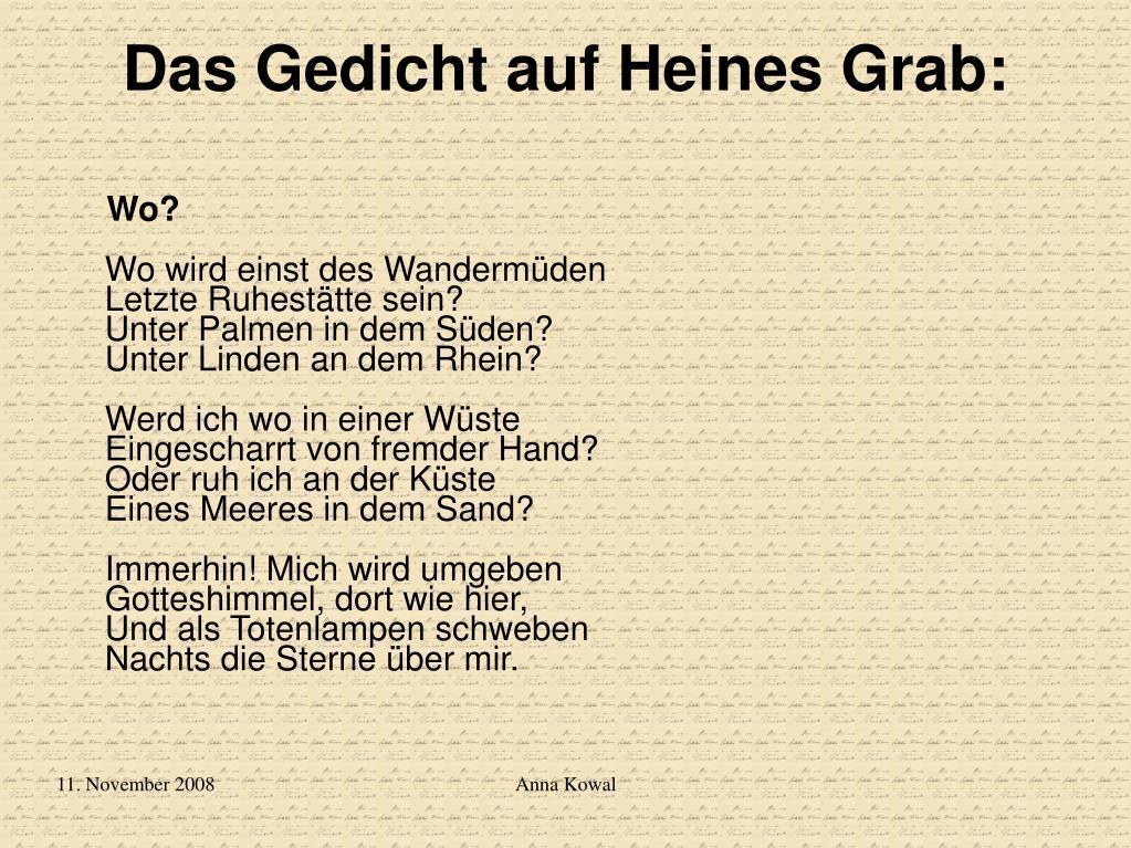 Ppt Heinrich Heines Leben Und Sein Werk Powerpoint