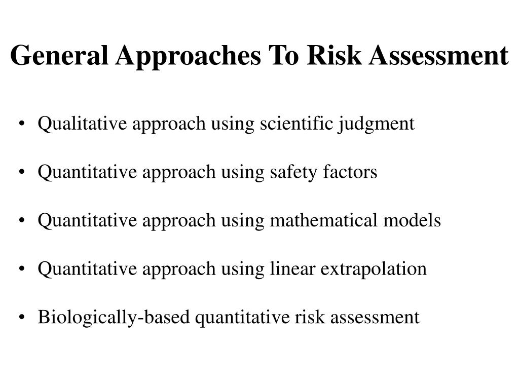 General Approaches To Risk Assessment