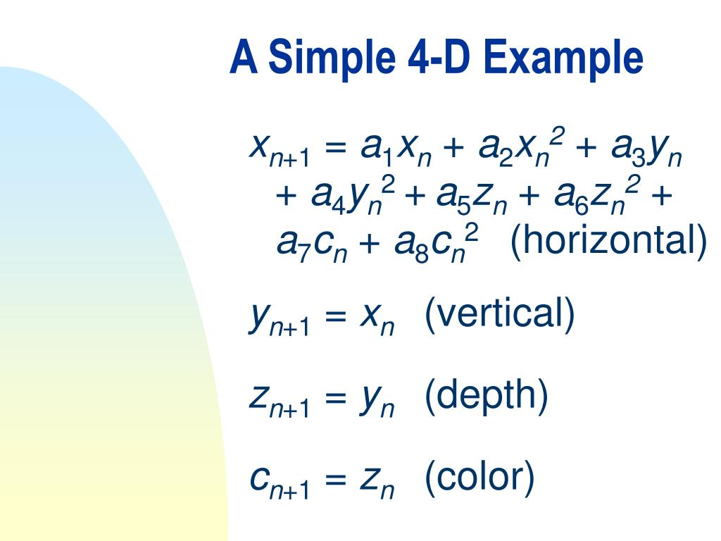 A Simple 4-D Example