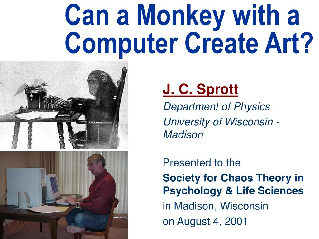 can a monkey with a computer create art l.