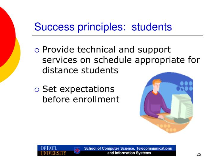 Success principles:  students