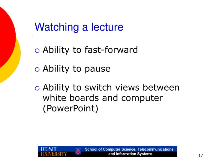 Watching a lecture