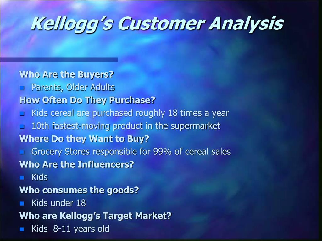 Kellogg's Customer Analysis