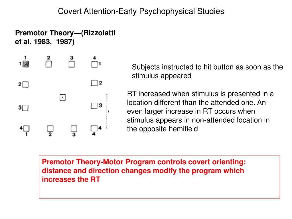 Covert Attention-Early Psychophysical Studies