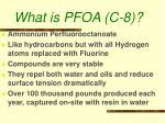 what is pfoa c 8