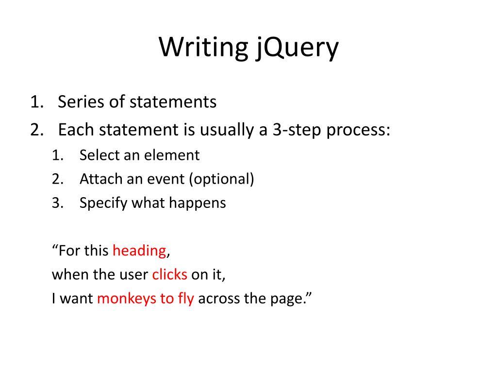 Writing jQuery