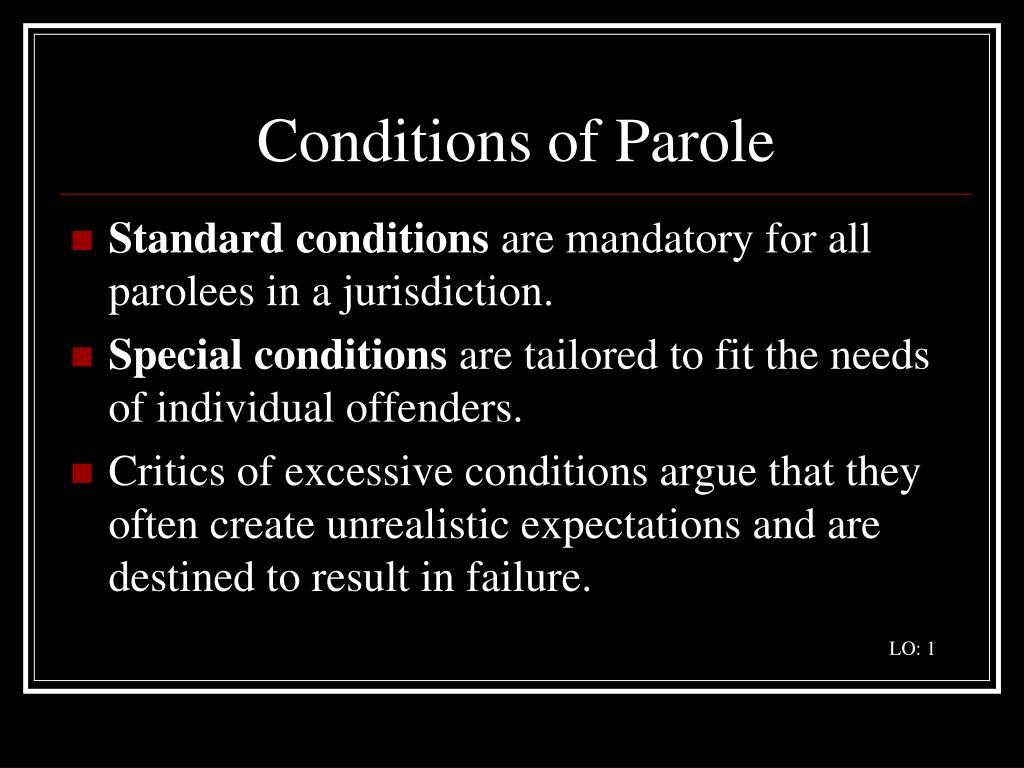 Conditions of Parole