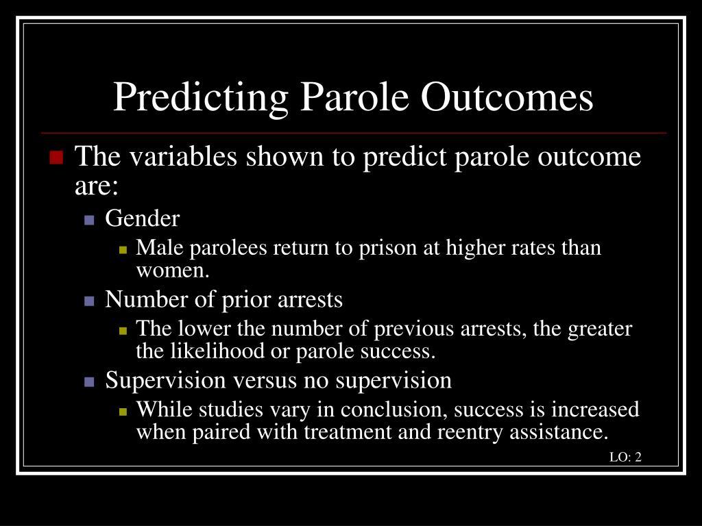 Predicting Parole Outcomes