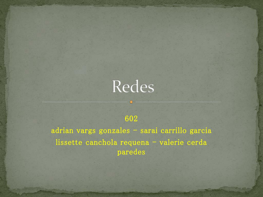 redes l.